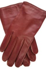 Armani Leather Gloves - Lyst