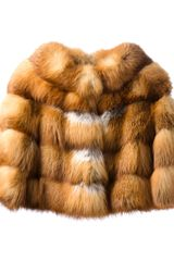 Blancha Fox Fur Jacket - Lyst