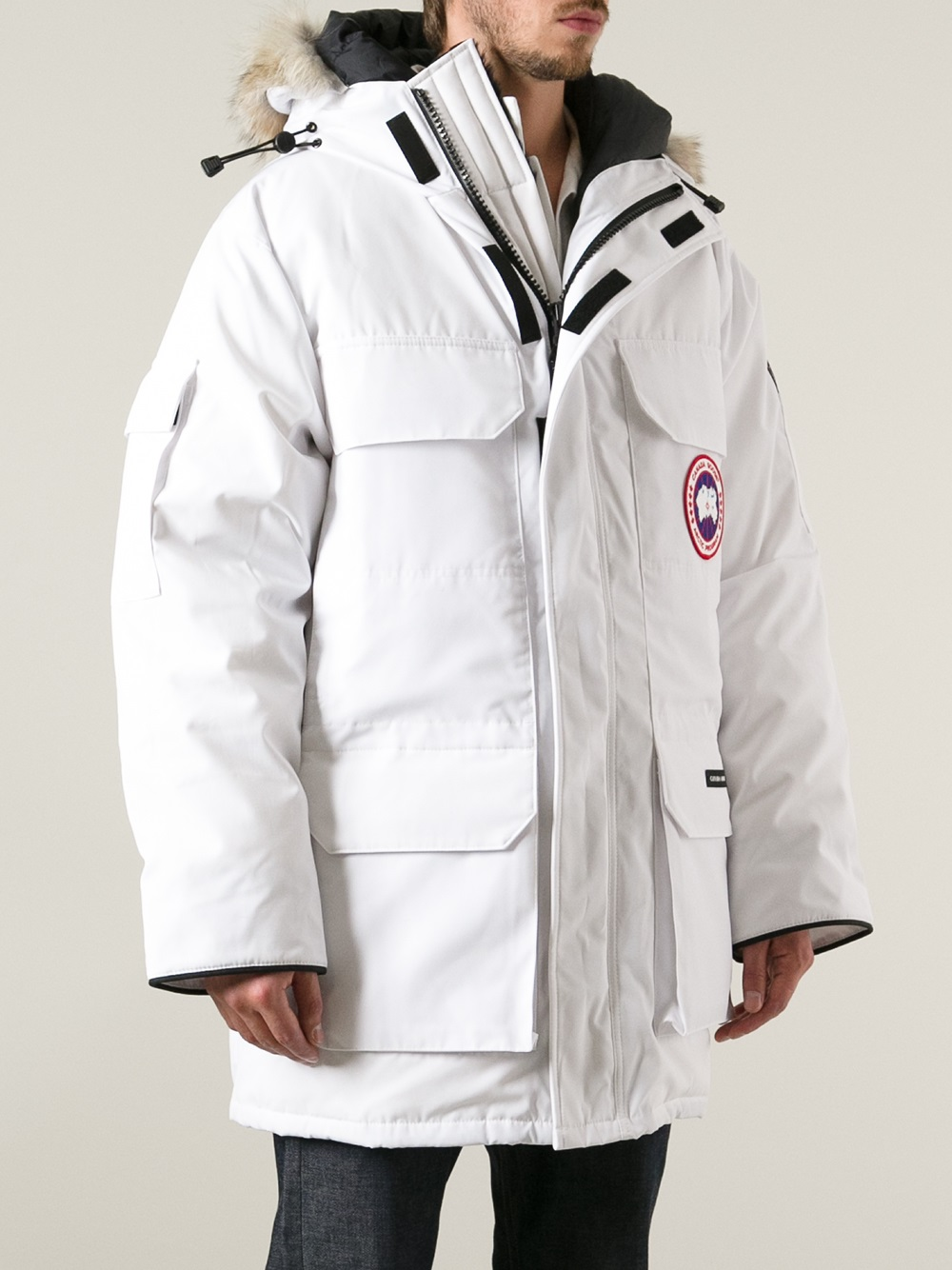 Lyst Canada Goose Padded Jacket In White For Men
