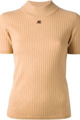 Courreges Ribbed Polo Neck Sweater - Lyst