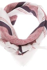 Destin Patterned Scarf - Lyst