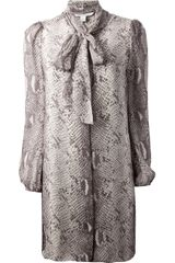 Diane Von Furstenberg Snake Print Shift Dress - Lyst