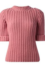 DSquared2 Ribbed Wool Blend Sweater - Lyst