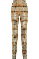 Emilia Wickstead Paolina Plaid Wool Straightleg Pants - Lyst