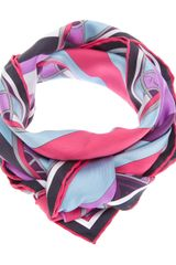 Emilio Pucci Abstract Print Scarf - Lyst