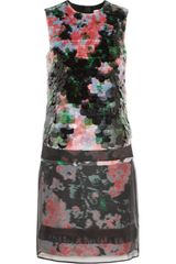 Erdem Ebru Paillette embellished Jacquard and Chiffon Dress - Lyst