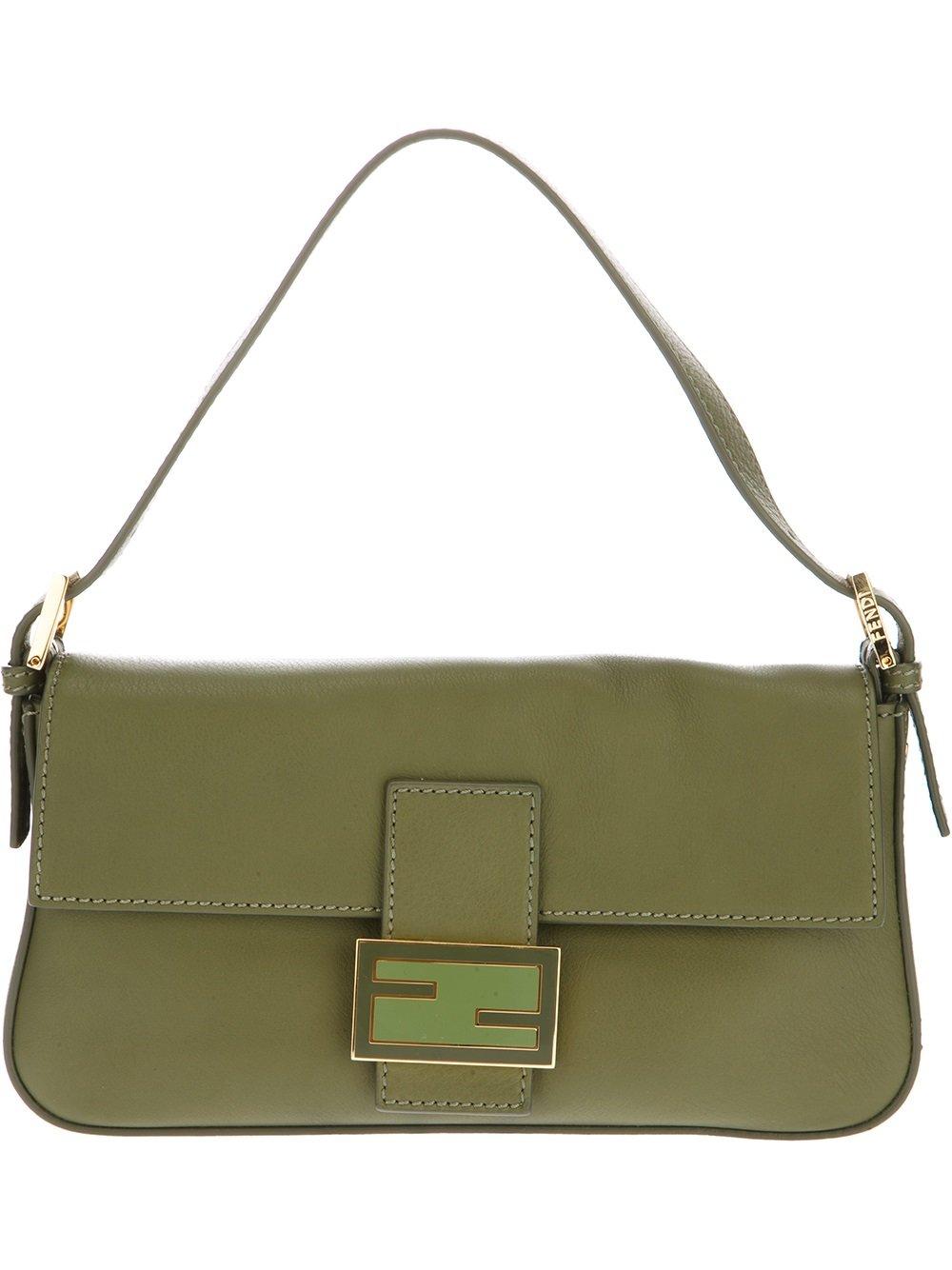 Fendi Baguette Shoulder Bag in Green