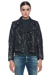 Golden Goose Deluxe Brand Leather Moto Jacket - Lyst