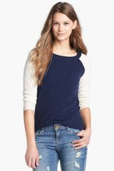 Halogen Colorblock Cashmere Sweater - Lyst