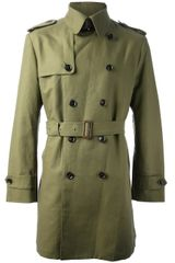 Hardy Amies Double Breasted Trench Coat - Lyst
