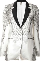Haute Hippie Feather Print Jacket - Lyst