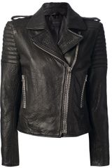 Hotel Particulier Leather Biker Jacket - Lyst