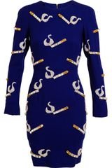 House Of Holland Embellished Crepe Wool Dress - Lyst