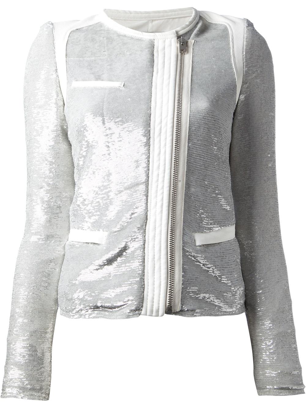 Lyst Iro Croxley Sequin Jacket In Gray