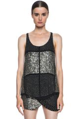 Isabel Marant Peachy Embroidered Georgette Tank - Lyst