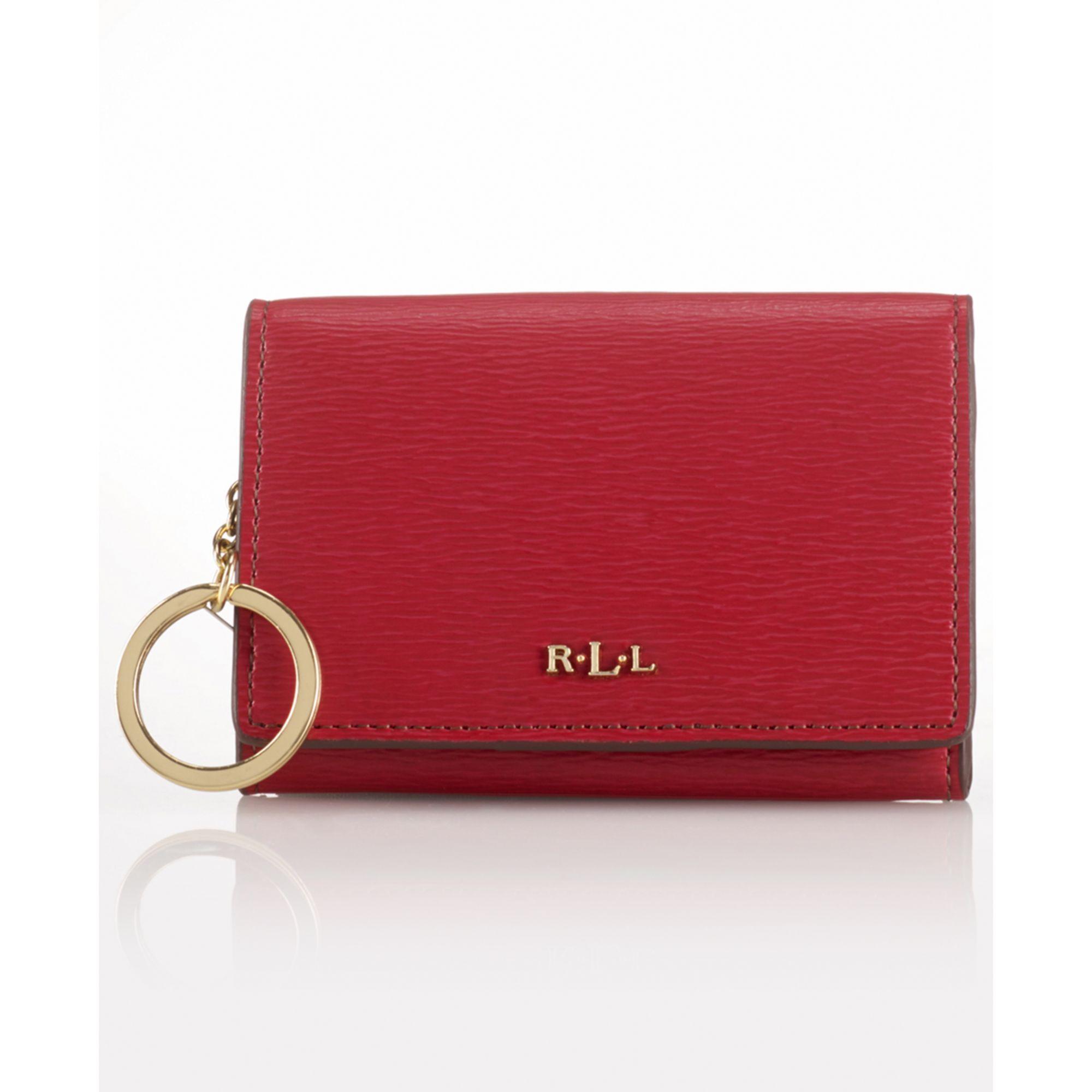 ac5b66458d0 Lyst - Lauren by Ralph Lauren Tate Coin Purse in Red