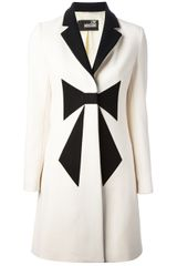 Love Moschino Bow Front Coat - Lyst