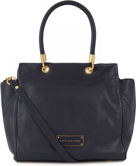 Marc By Marc Jacobs Bentley Grained Leather Tote In Blue