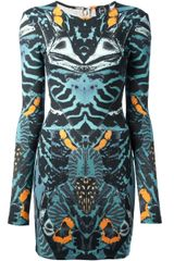 McQ by Alexander McQueen Printed Fitted Dress - Lyst