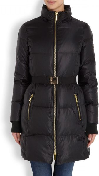 Michael Michael Kors Fur Trimmed Padded Shell Jacket In