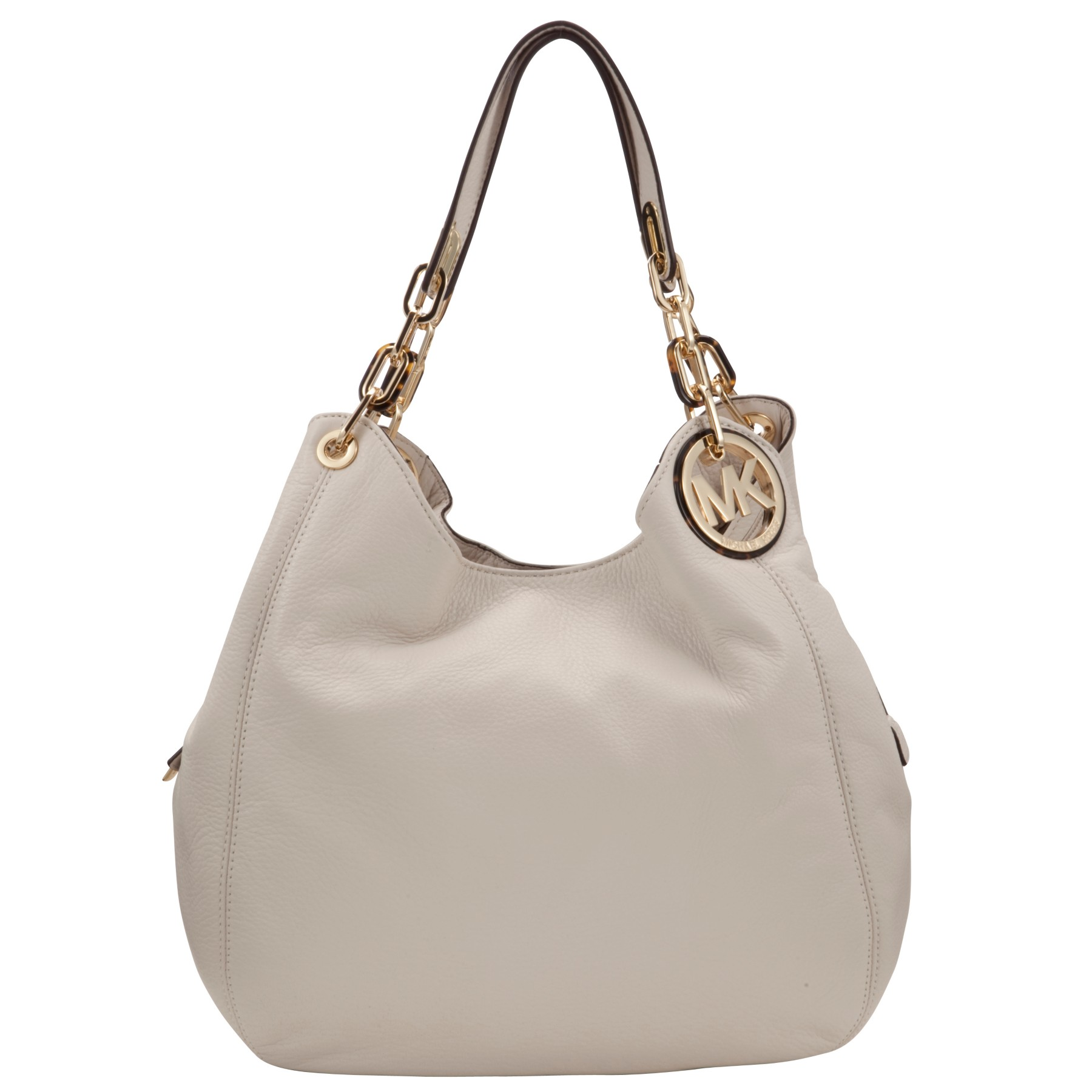 michael michael kors large fulton hobo bag in white vanilla lyst. Black Bedroom Furniture Sets. Home Design Ideas
