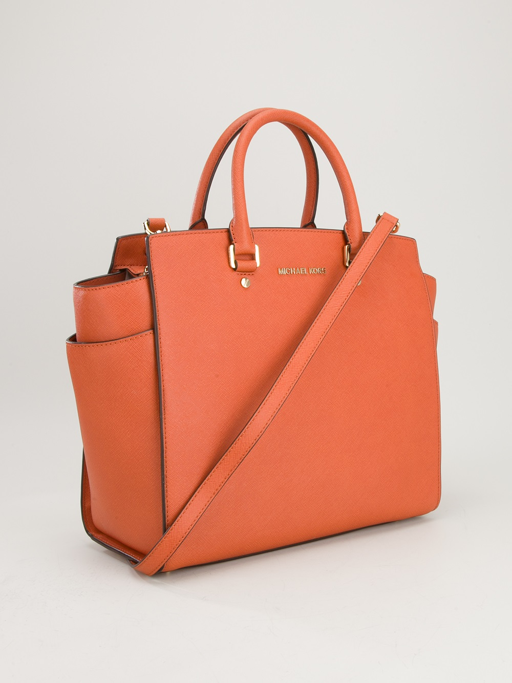 d81742cc8d832 ... netherlands lyst michael michael kors selma large tote bag in orange  271d4 064ba