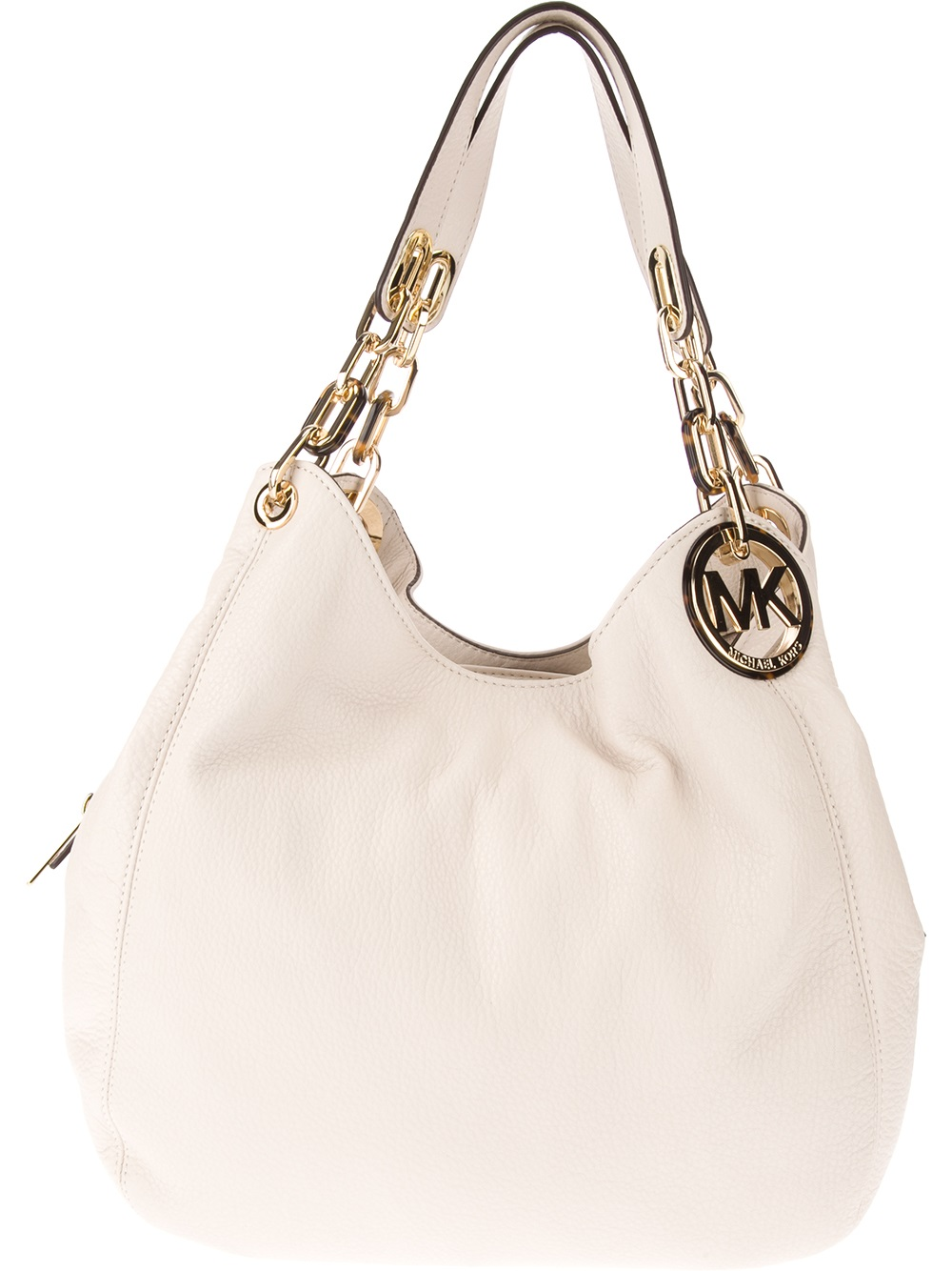 c7bb7fddc884 ... netherlands lyst michael kors slouch tote bag in white b81ad 2cc89