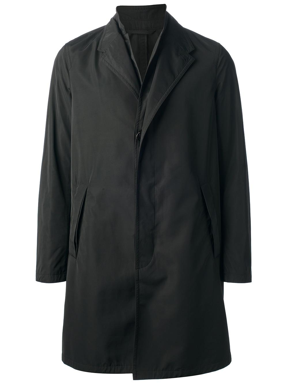 Neil Barrett Mid Length Rain Coat In Black For Men Lyst