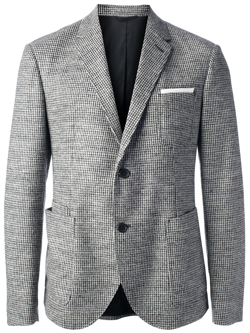 Neil barrett Tweed Jacket in Gray for Men   Lyst