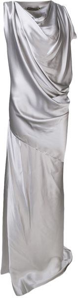 Plein Sud Draped Cowl Neck Dress - Lyst