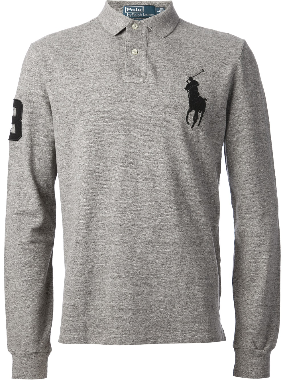 Lyst - Polo Ralph Lauren Long Sleeve Polo Shirt in Gray for Men f93d49d43d07