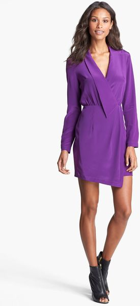 Presley Skye Silk Shirt Dress - Lyst