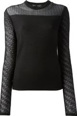 Proenza Schouler Sheer Sleeve Sweater - Lyst