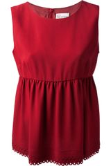 RED Valentino Waisted Peplum Top - Lyst
