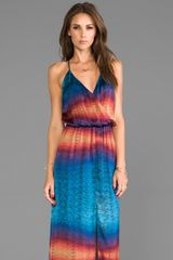 Rory Beca Hess Wrap Gown in Teal - Lyst