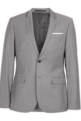 Topman Light Grey Slim Suit Jacket - Lyst