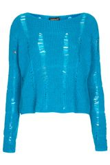 Topshop Knitted Ladder Stitch Jumper - Lyst