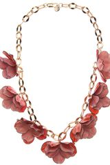 Tory Burch Floral Necklace - Lyst