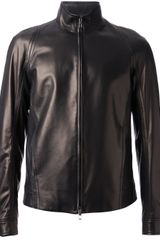 Valentino Zip Fastening Leather Jacket - Lyst