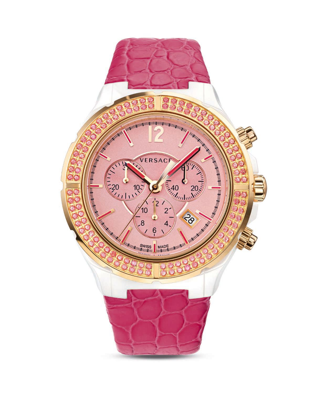 Versace Womens Dv One Cruise Watch 435mm In Pink White