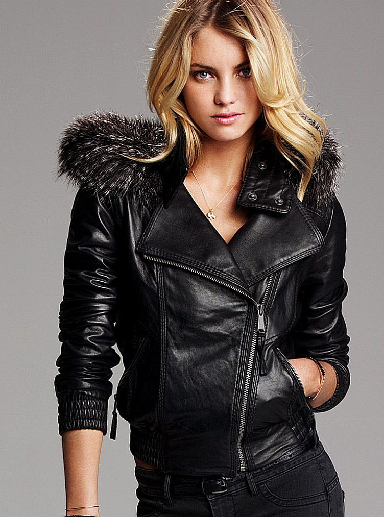 Victoria secret leather jacket