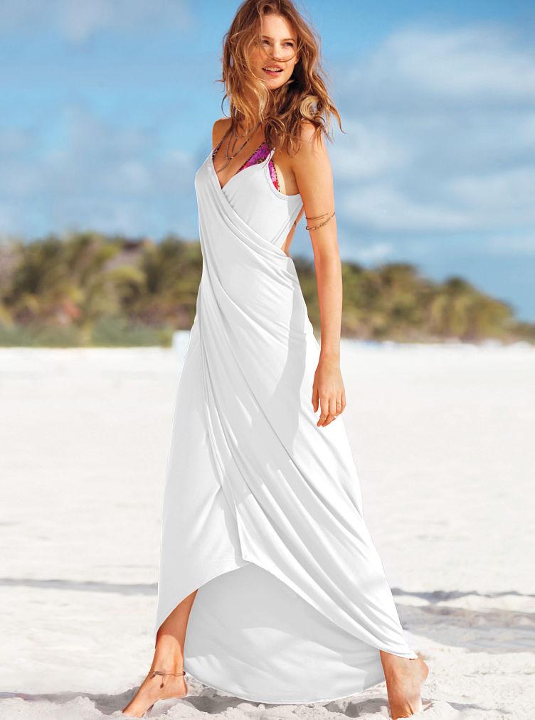 Victoria 39 S Secret Getaway Wrap Maxi In White Lyst