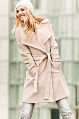 Victoria's Secret Michael By Michael Kors The Belted Wrap Coat Brown L