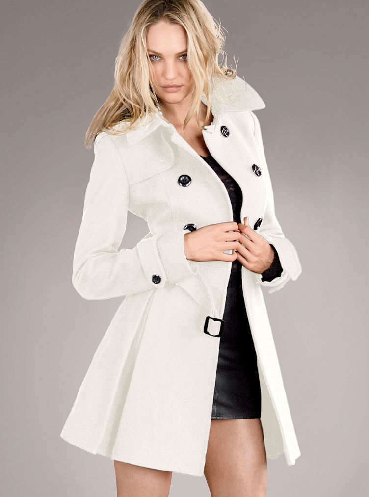 Long winter white wool coat – Modern fashion jacket photo blog