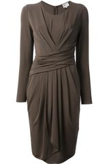 Armani Gathered Dress - Lyst