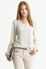 Banana Republic Heritage Embroidered Blouse - Lyst