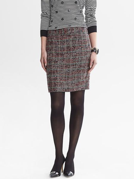 Banana Republic Ombre Tweed Pencil Skirt In Gray New