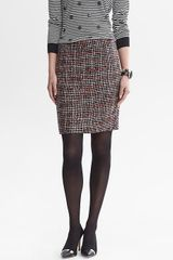 Banana Republic Ombre Tweed Pencil Skirt - Lyst