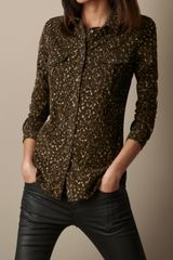 Burberry Abstract Animal Print Corduroy Shirt - Lyst