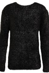 Carven Alpaca and Silk Tinsel Tweed Sweater - Lyst